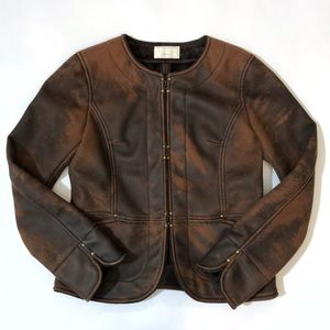 Nolley's Week End faux fake leather suede jacket